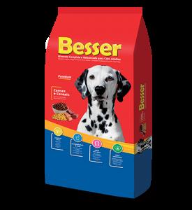 Besser Carnes e Cereais Cães Adultos
